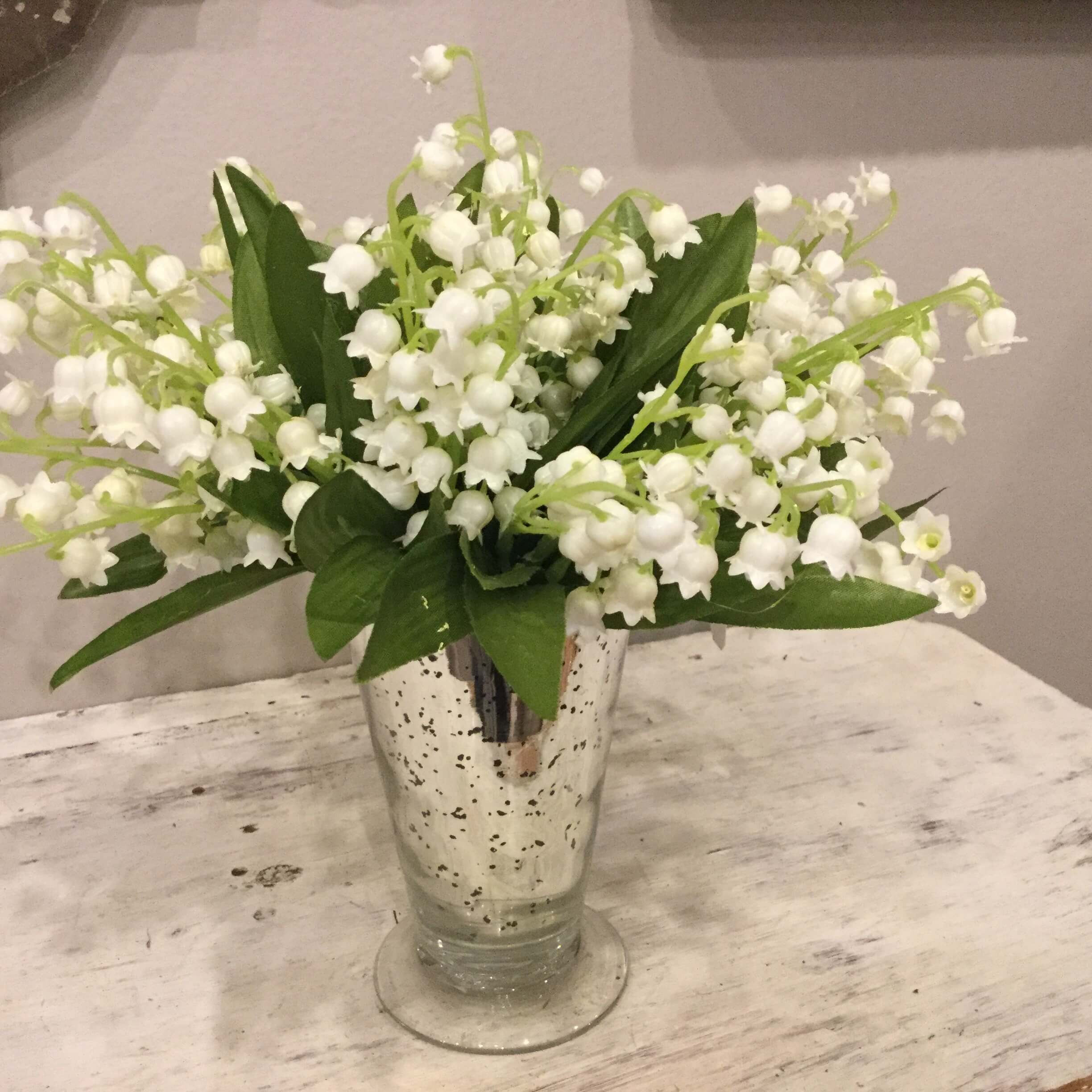 Lily Of The Valley In Mercury Glass P S Flowers And Interiors